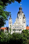 new city hall in leipzig - stock photo