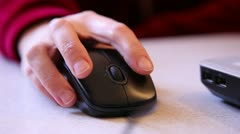 computer mouse in hand , close-up - stock footage