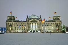 bundestag in berlin - stock photo