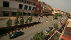Kansas City Plaza Traffic Tilt-Shift Lens Stock Footage