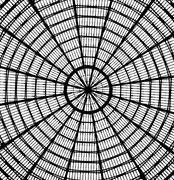 abstract roof looking like spider web - stock illustration
