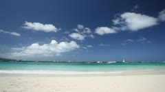 Beautiful beach with white sand Stock Footage