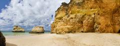Wonderfull portuguese beach Stock Photos