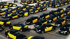 Timelapse - Taxi Barcelona II Stock Footage