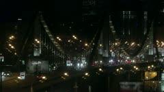 Traffic on the bridge. Stock Footage