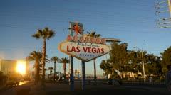 Las Vegas Sign - stock footage