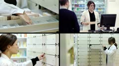 Pharmacy composition - stock footage