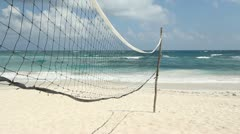Volleyball net on the beach. Stock Footage