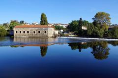 vienne river in limousin - stock photo