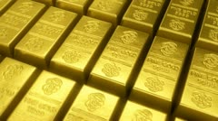 Gold Bullions animation. Stock Footage