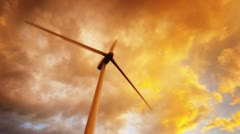 Wind turbines generating electricity. Stock Footage