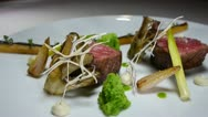 Stock Video Footage of Gourmet restaurant food beef