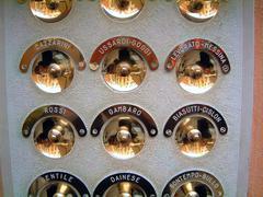 italy venice nameplates venetia veneto venedig - stock photo