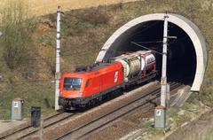 Stock Photo of austrian federal railways commerce europe goods