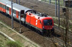 Stock Photo of austrian federal railways europe local traffic