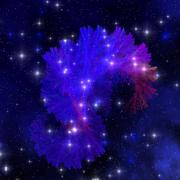 Electra blue nebula Stock Illustration