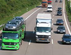 Commerce good goods transport groove lane toll Stock Photos