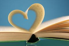 Stock Photo of heart art book page history literature lover