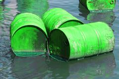 Water nature barrel cask container dye ecology Stock Photos