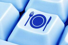 activity board chinaware closeup data email eat - stock photo