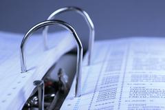 Accounting archive arrange balance company Stock Photos