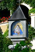 icon art activity culture god madonna memorial - stock photo