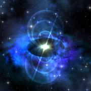 Magnetic pulse star Stock Illustration
