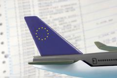 activity airplane airport continent delay europe - stock photo