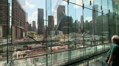 P5C89 One World Trade Center - Contruction - stock footage