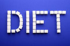 adult onset diabetes diabetic eat gain weight - stock photo