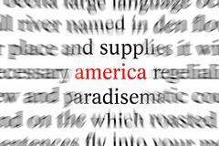 Art american continent letter script symbol Stock Photos