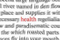 art effort excess health insurance letter script - stock photo