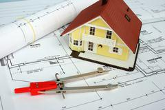 House office home balance building industry plan Stock Photos