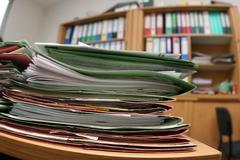 Office archive arrange contract democracy folder Stock Photos