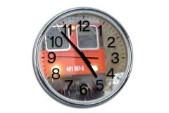 clock commuter train delay express fast federal - stock photo