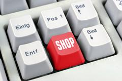 shopping internet broadband buy chat consumer - stock photo