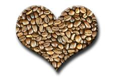 Food heart coffee caffeine drink eat filter Stock Photos