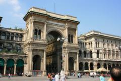 Shopping city view europe european italian photo Stock Photos