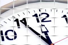 Clock descision express fast hasty time hour Stock Photos