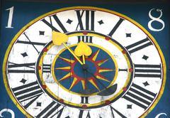 Austrian castle clock descision europe european Stock Photos
