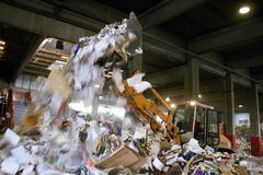 paper carton collection ecology protection box - stock photo