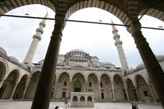 City view europe european metropole mosque old Stock Photos