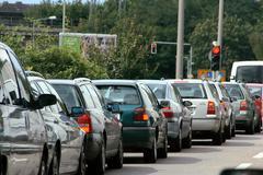 Car insurance means transport motor photo jam Stock Photos