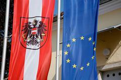 art banner european flag photo symbol union - stock photo