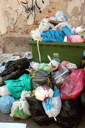 ecology garbage collection household photo pile - stock photo