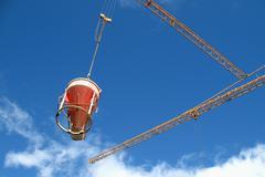 Business building industry permit work crane Stock Photos