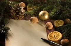 christmas art paper leaf advent culture holiday - stock photo