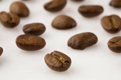 food pattern coffee bean caffeine developing eat - stock photo