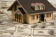 House home bill dollar loan means payment photo Stock Photos