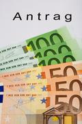 Stock Photo of money authority bill black building permit euro